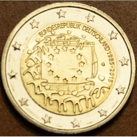 """2 Euro Nemecko """"G"""" 2015 - 30 rokov Europskej vlajky  (UNC)"""