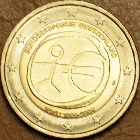 """2 Euro Nemecko """"J"""" 2009 - 10. výročie hospodárskej a menovej únie  (UNC)"""
