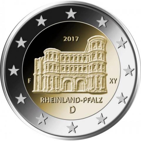 "2 Euro Nemecko ""A"" 2017 - Porýnie-Falcko:  Porta Nigra  (UNC)"