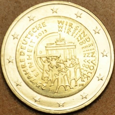 """2 Euro Nemecko """"A"""" 2015 - 25 rokov of opätovného zjednotenia Nemecka (UNC)"""