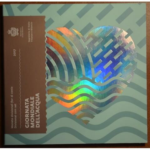 Set of 9 eurocoins San Marino 2017 - New design (BU)