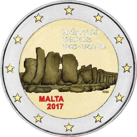 2 Euro Malta 2017 - Hagar Qim (colored UNC)