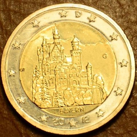 """2 Euro Nemecko """"G"""" 2012 - Bavorsko: Neuschwanstein (UNC)"""