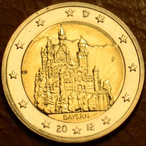 """2 Euro Nemecko """"F"""" 2012 - Bavorsko: Neuschwanstein (UNC)"""