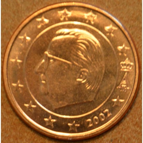 2 cent Belgicko 2002 (UNC)