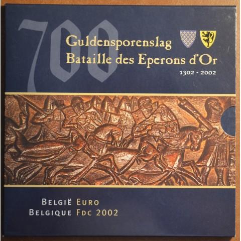 Sada 8 belgických mincí 2002 (BU)
