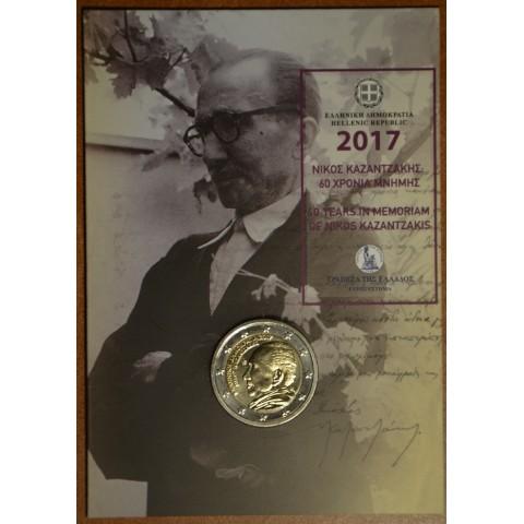 2 Euro Grécko 2017 - Nikos Kazantzakis (BU karta)