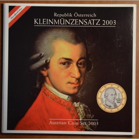 Sada 8 rakúskych mincí 2003 (BU)
