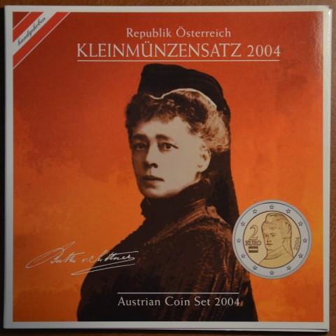 Sada 8 rakúskych mincí 2004 (BU)