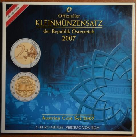 Sada 8 rakúskych mincí 2007 (BU)