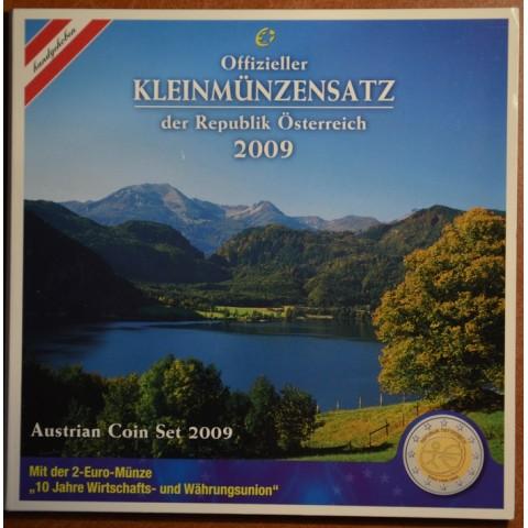 Sada 8 rakúskych mincí 2009 (BU)