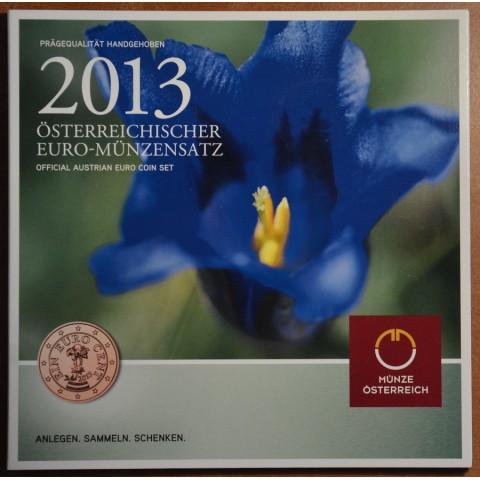 Sada 8 rakúskych mincí 2013 (BU)