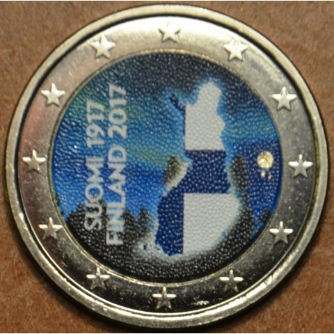 2 Euro Fínsko 2017 - 100 rokov nezávislosti Fínska II. (farebná UNC)