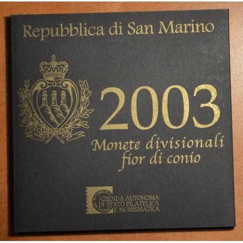 Sada 9 euromincí San Marino 2003 (UNC)