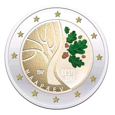 2 Euro Estónsko 2017 - Cesta k nezávislosti  (farebná UNC)