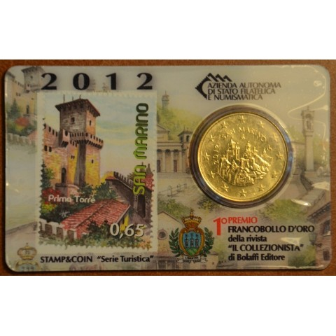 50 cent San Marino 2012 + známka (BU)