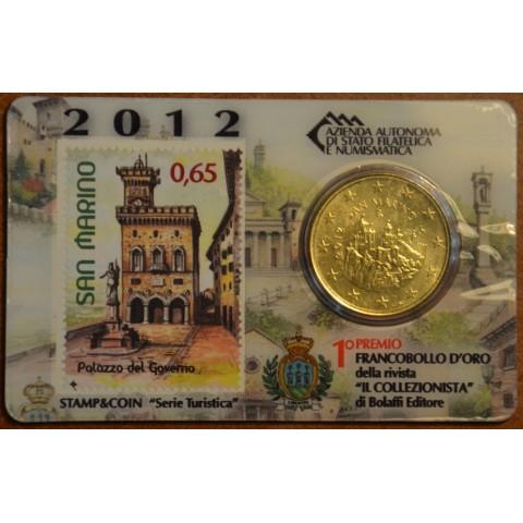 50 cent San Marino 2012 + známka IV. (BU)