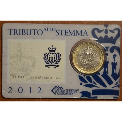 1 Euro San Marino 2012 (karta so známkou)