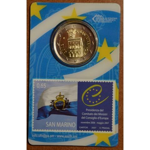2 Euro San Marino 2012 - Dom vlády (BU karta so známkou)
