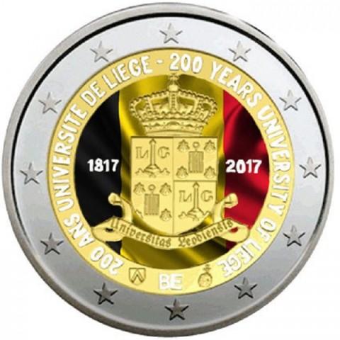 2 Euro Belgicko 2017 - Univerzita v Liege II. (farebná UNC)