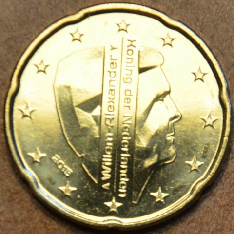 20 cent Holandsko 2015 - Kráľ Willem Alexander (UNC)