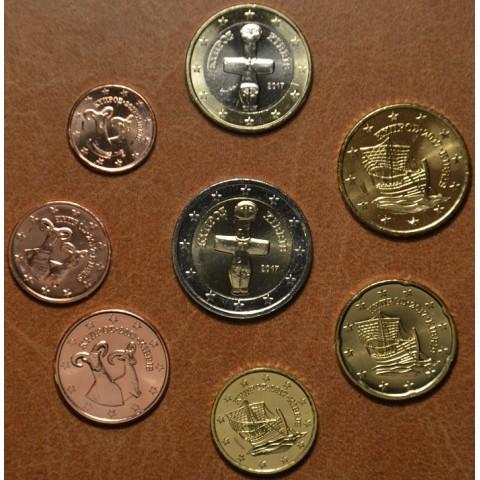 Sada 8 euromincí Cyprus 2017 (UNC)