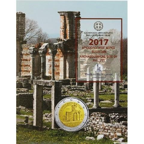 2 Euro Grécko 2017 - Archeologické nálezisko Philippi (BU karta)