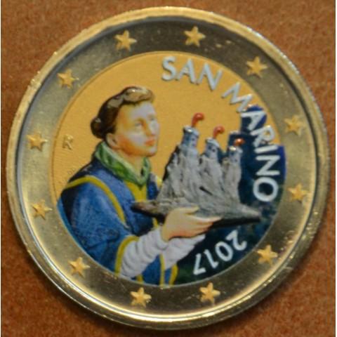 2 Euro San Marino 2017 - Svätý Marinus II. (farebná UNC)