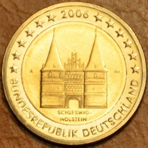 """2 Euro Nemecko """"A"""" 2006 - Holstentor v Lübecku / Schleswig-Holstein (UNC)"""