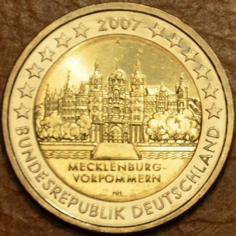 """2 Euro Nemecko """"A"""" 2007 - Meklenbursko-Predpomoransko: zámok Mecklenburg-Vorpommern (UNC)"""