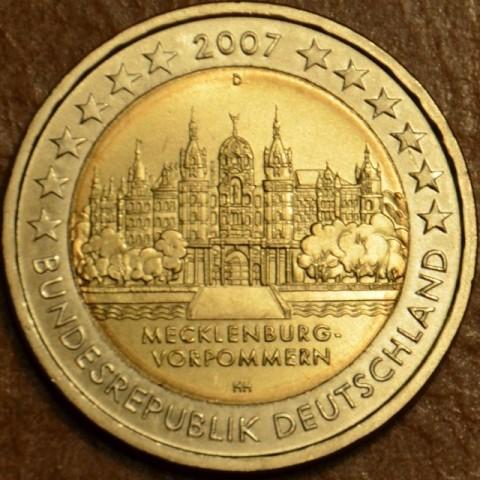 """2 Euro Nemecko """"D"""" 2007 - Meklenbursko-Predpomoransko: zámok Mecklenburg-Vorpommern (UNC)"""