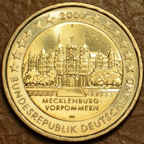 """2 Euro Nemecko """"F"""" 2007 - Meklenbursko-Predpomoransko: zámok Mecklenburg-Vorpommern (UNC)"""