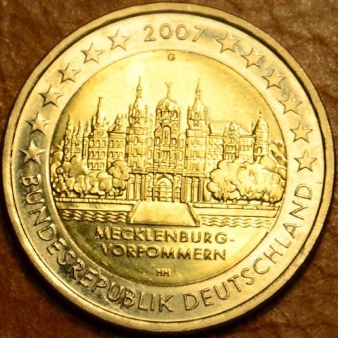 """2 Euro Nemecko """"G"""" 2007 - Meklenbursko-Predpomoransko: zámok Mecklenburg-Vorpommern (UNC)"""