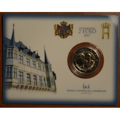 2 Euro Luxembursko 2017 - Veľkovojvoda Viliam III (BU karta)
