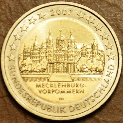 """2 Euro Nemecko """"J"""" 2007 - Meklenbursko-Predpomoransko: zámok Mecklenburg-Vorpommern (UNC)"""