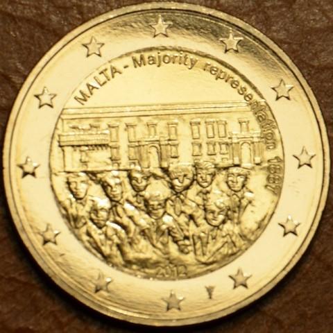 2 Euro Malta 2012 - Dejiny Malty: 1887 Väčšinové zastupovanie (UNC)
