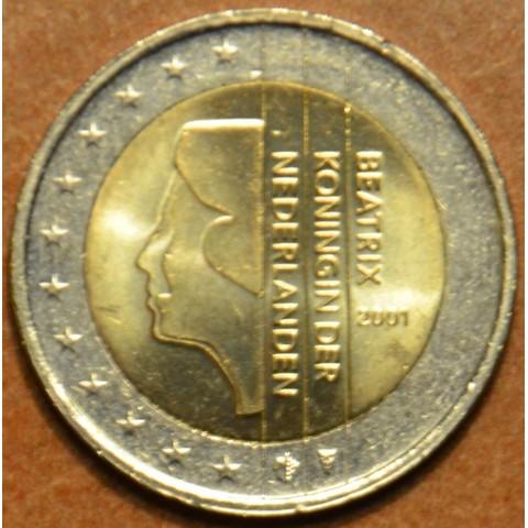 2 Euro Holandsko 2001 - Kráľovná Beatrix (UNC)