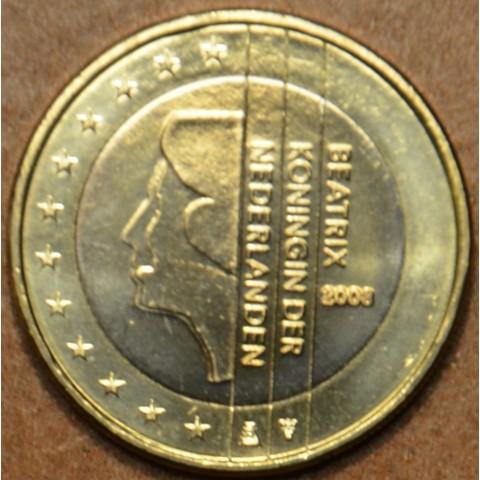 1 Euro Holandsko 2008 - Kráľovná Beatrix (UNC)
