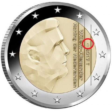 "2 Euro Holandsko 2017 - Nový znak ""most"" (UNC)"