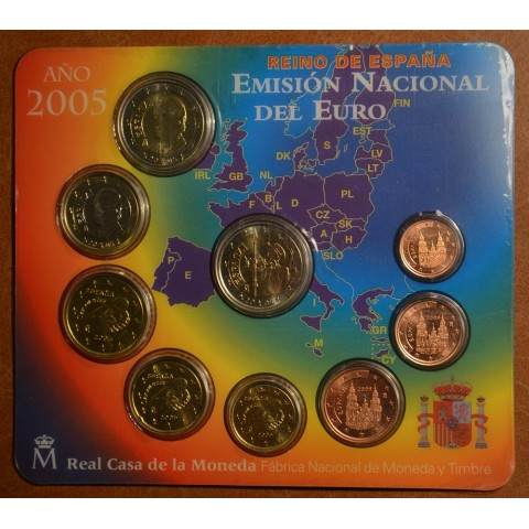 Súbor 9 Španielskych mincí 2005 (BU)