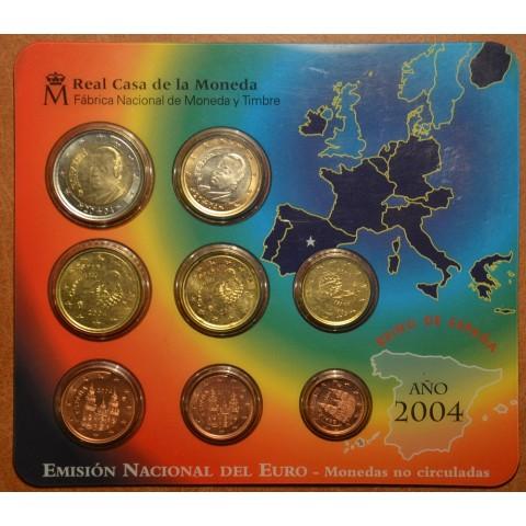 Súbor 8 Španielskych mincí 2004 (BU)