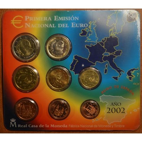 Súbor 8 Španielskych mincí 2002 (BU)