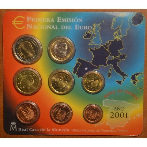 Súbor 8 Španielskych mincí 2001 (BU)