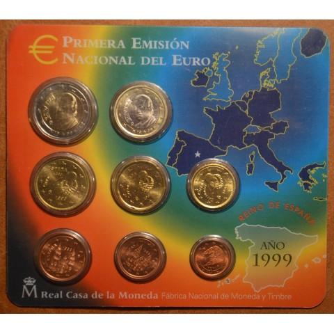 Súbor 8 Španielskych mincí 1999 (BU)