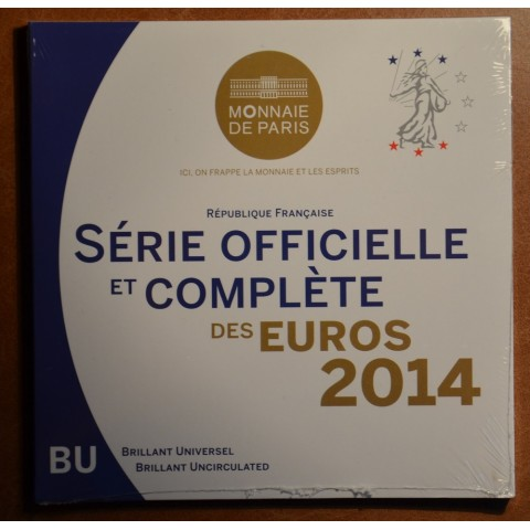 Sada 8 euromincí Francúzsko 2014 (BU)
