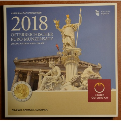 Sada 8 rakúskych mincí 2018 (BU)