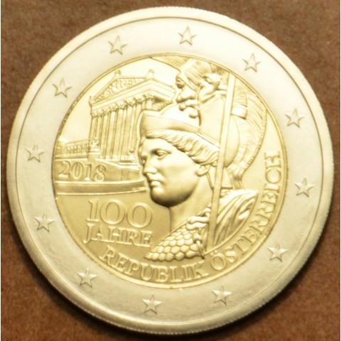 2 Euro Rakúsko 2018 - 100 rokov Rakúskej republiky (UNC)
