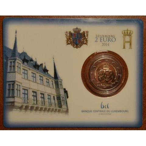 2 Euro Luxembursko 2014 - 50. výročie nastúpenia Jeana Luxemburského na trón (BU)