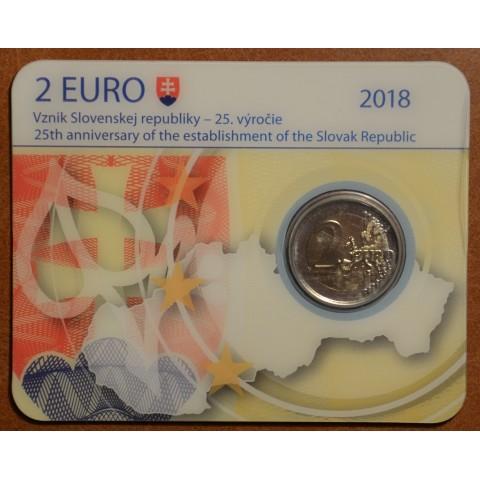 2 Euro Slovensko 2018 - 25. výročie vzniku (BU karta)