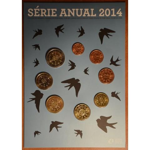 Sada 8 portugalských mincí 2014 (BU)